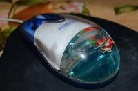 Компьютерная мышка новогодней тематики с дедом Морозом