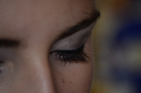 Фотография лица (фрагмент) - глаз и ресниц