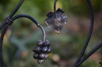 Кованый кленовый листок и ветвь винограда
