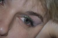 Фрагмент лица - макияж, глаз, ресницы, кожа