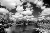 Река Хорол в Холодный и солнечный летний день