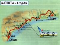 Карта южного берега Крыма - Канака