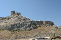 Вид на крепость со стороны Чёрного моря