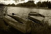 Лодки на берегу Хорола
